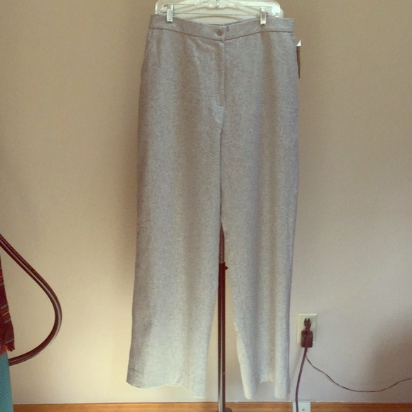 Lauren Ralph Lauren Pants - Classic light gray warm flannel wool slacks